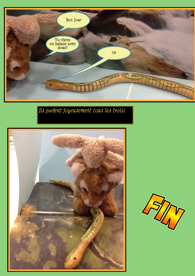 """""""Les deux amis et le serpent"""""""